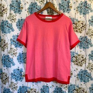 Vintage Pink & Red sweater shirt